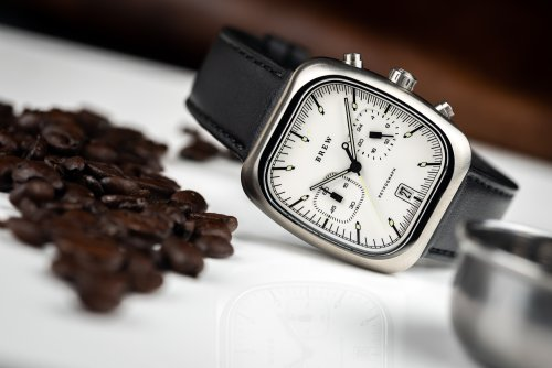 The Brew Retrograph is a coffee house inspired watch, complete with a chronograph function to time espresso extraction