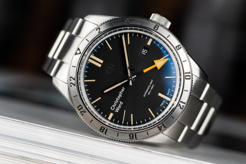 Christopher Ward C65 GMT on its stock bracelet