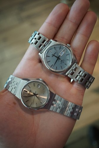 Pair of vintage Seikos